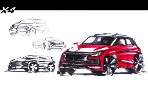 Automobile Farsi - 2020 JAC X4 sketch